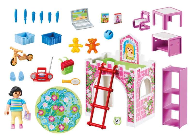 Contenido real de Playmobil® 9270 Habitación Infantil