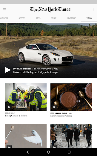 Screenshot 12 for The New York Times's Android app'