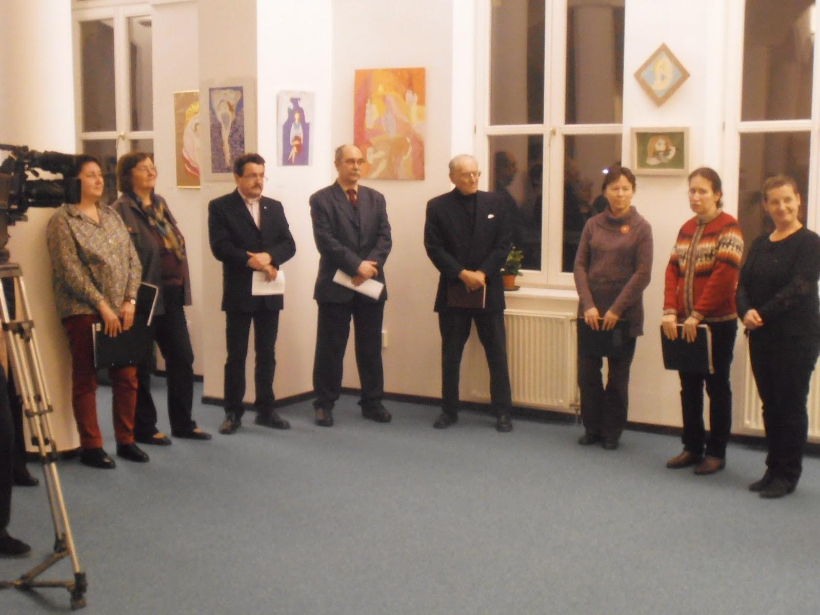 Shmorgun Okszána kiállításának megnyitója