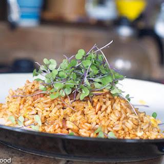 Egg Fried Rice w/ Kale Micro Greens.