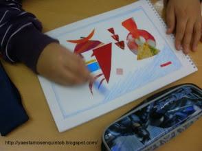 Photo: Trabajando Collage de Kandinsky