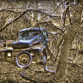 Always F.O.R.D.. by Udo Weber - Transportation Automobiles ( yard, truck, a, auto, parts, ford, classic )