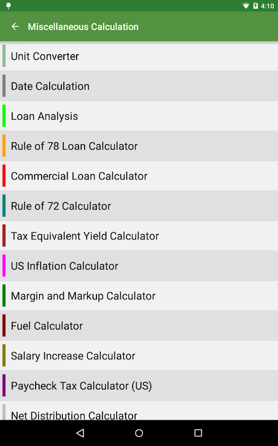 Financial Calculators- screenshot