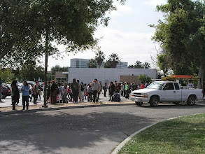 Photo: Students in Lot A