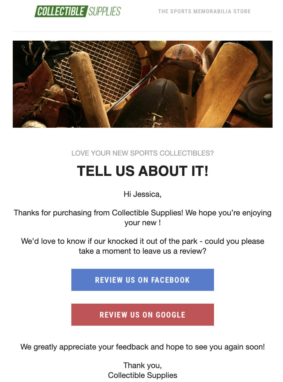 ecommerce survey email