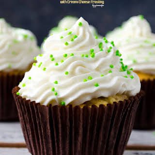 Apple Cupcakes with Cream Cheese Frosting.