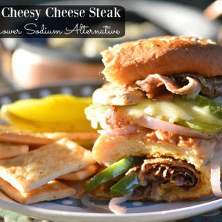 Easy Cheesy Lower Sodium Cheese Steak Sandwich