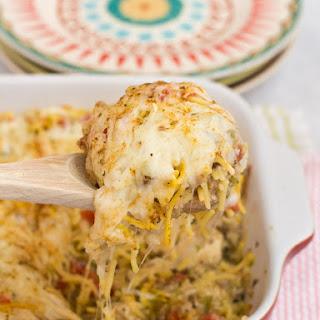 Skillet Chicken Cheese Spaghetti