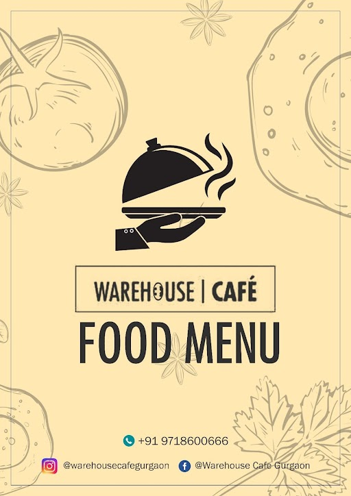 Warehouse Cafe menu 1