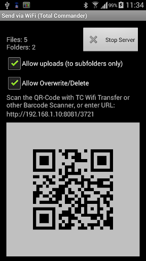 WiFi/WLAN Plugin for Totalcmd 3.3 screenshots 1