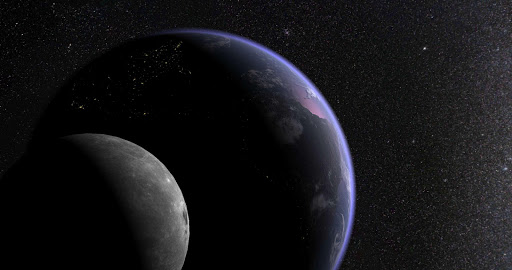 Earth & Moon in HD Gyro 3D PRO app for Android screenshot