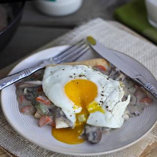 Breakfast Pot Pies with Mushroom & Herb Gravy