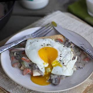 Breakfast Pot Pies with Mushroom & Herb Gravy.