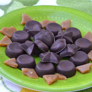 Homemade Chocolate Covered Toffee.