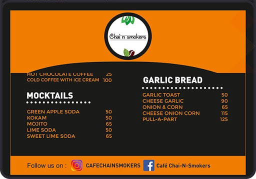 Chai-N-Smokers menu 2