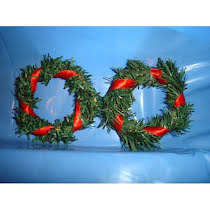 Krans till julänglar, tärnor mm