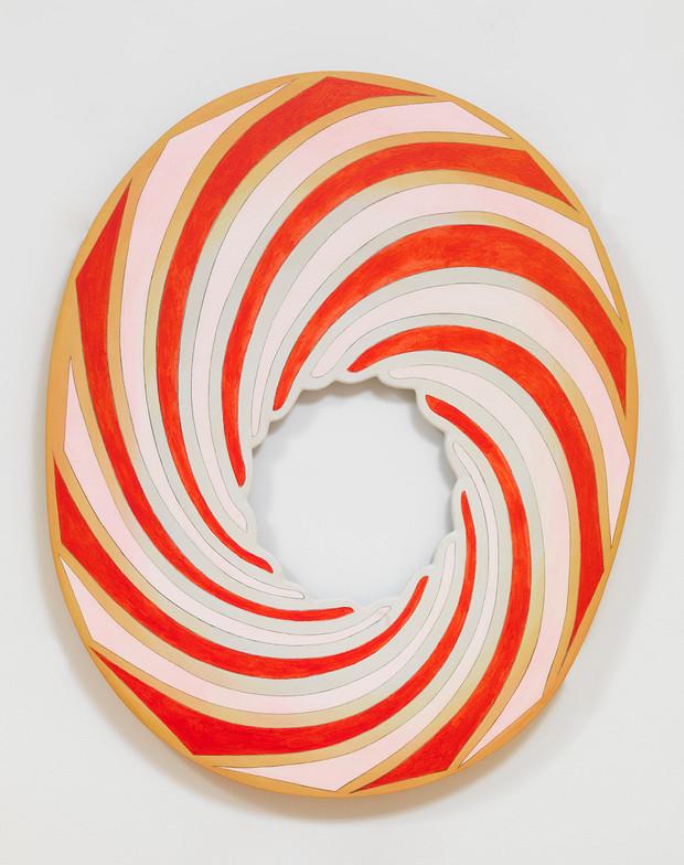 Blair Thurman, Ergot the Wheelie, 2017, Acrylic on canvas on wood, 49,25 x 40 x 2,625 in., Photo: Rob McKeever, Courtesy the artist, Gallery Gagosian and galerie frank elbaz