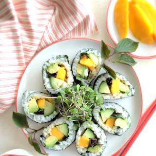 Mango Sushi Roll.