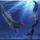 Crocodile Attack Mermaid