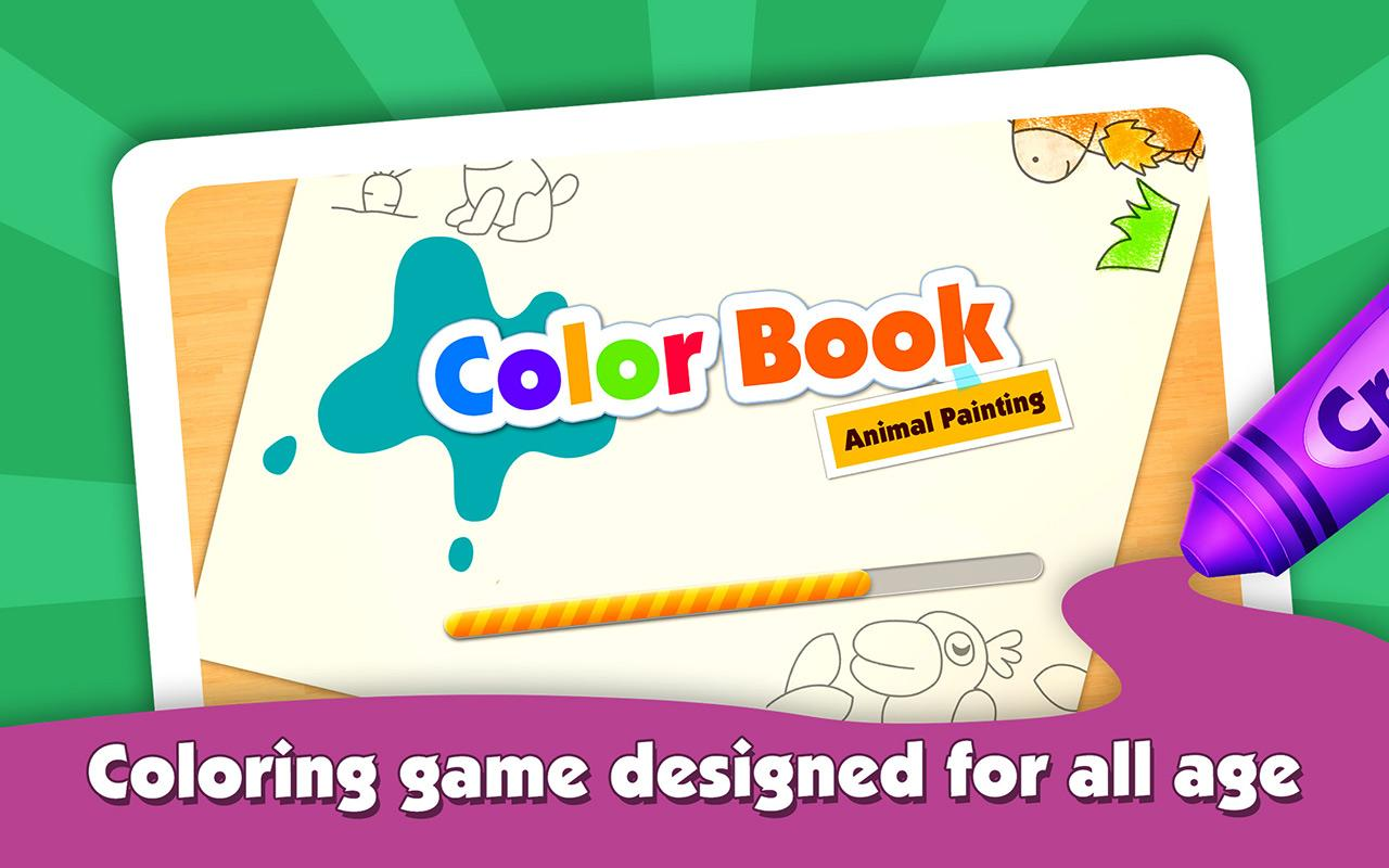 abc learner animal color book screenshot - Painting Color Book