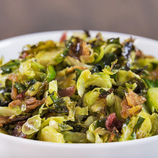 Lemony Shaved Brussel Sprouts.