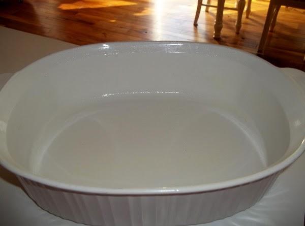 Preheat oven to 350 degree F. Spray a 3 quart casserole dish with non...