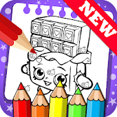 Draw colouring pages for Shopkins by Fans