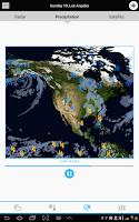 Screenshot of USA Weather forecast