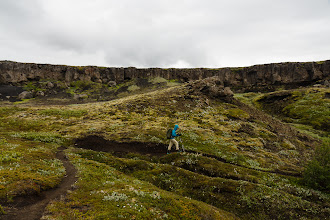 Photo: Hiking past basalt columns