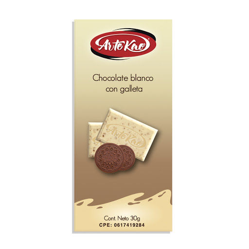 chocolate artekao blanco con galleta 30gr