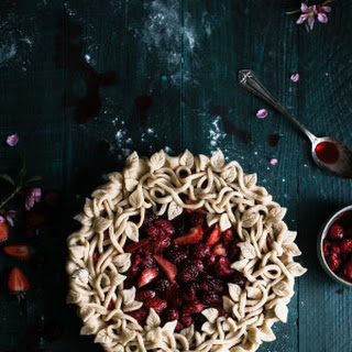 Triple Berry Pie with a Leaf & Vine Crust