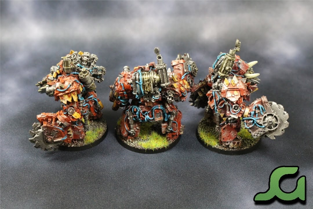Mega Armoured Nobz Squad Blue Rear