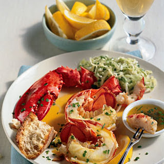Steamed Lobster with Lemon-Herb Butter