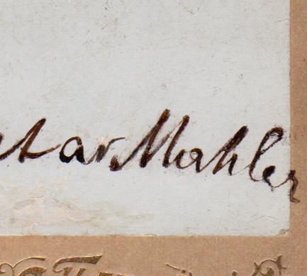 Gustav Mahler - example of a write-over