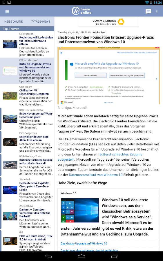 heise online - News- screenshot