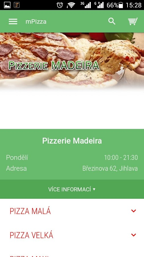 Pizzerie Madeira Jihlava- screenshot