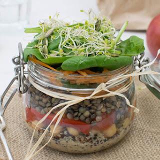 High Protein Salad In A Jar