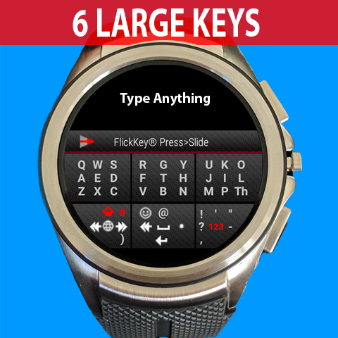 FlickKey Keyboard for Android Wear 2.0- screenshot