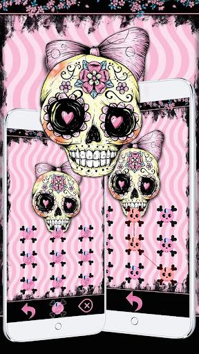 Download sugar skull theme pink flower skull google play softwares sugar skull theme pink flower skull mightylinksfo