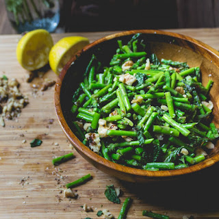 Sautéed Asparagus with Mint and Lemon.