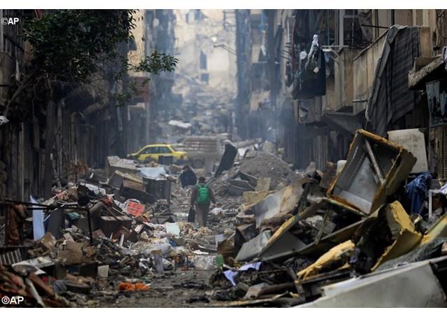 """Caritas: tình hình ở miền đông Aleppo bị chiến tranh tàn phá như cảnh """"hậu khải huyền"""""""