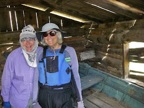 Photo: Peg & Helen in the old Hagadone boathouse.