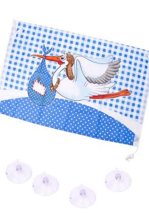 Babyshower fönsterdekor, blå