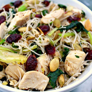 Kale Chicken Noodle Bowls