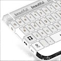 Laptop Keyboard Modern Branco