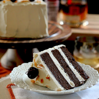 Whisky Old Fashioned Chocolate Cake with Whisky Buttercream Frosting