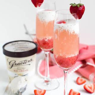 Strawberry Rosé Ice Cream Float.