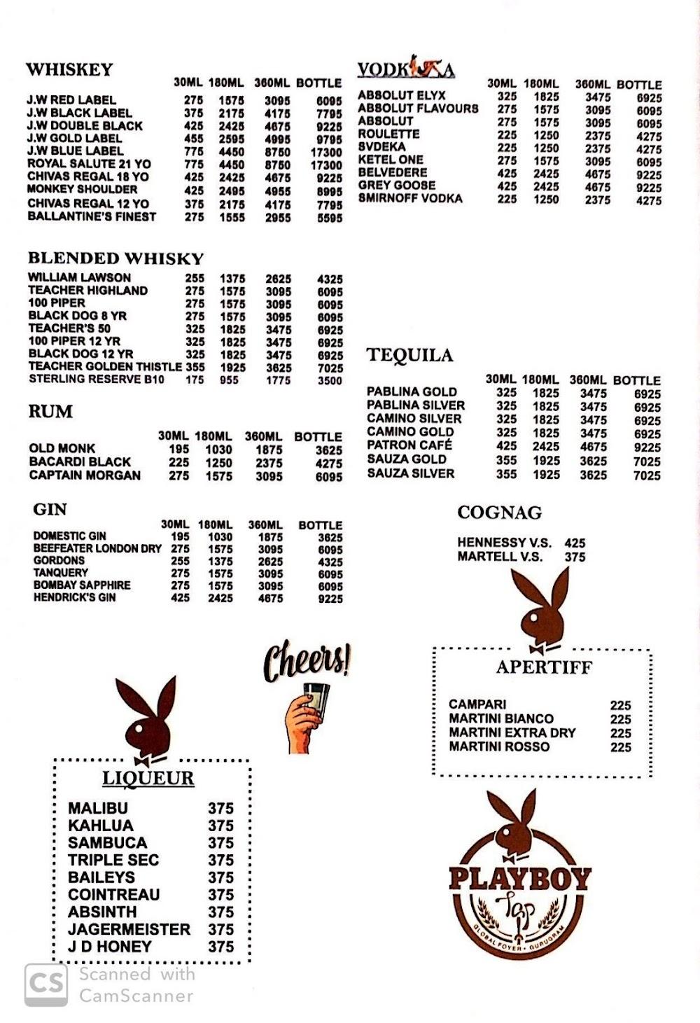 Playboy Tap menu 6