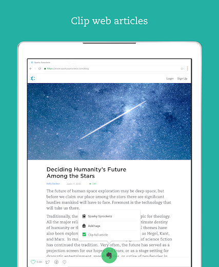 Screenshot 8 for Evernote's Android app'
