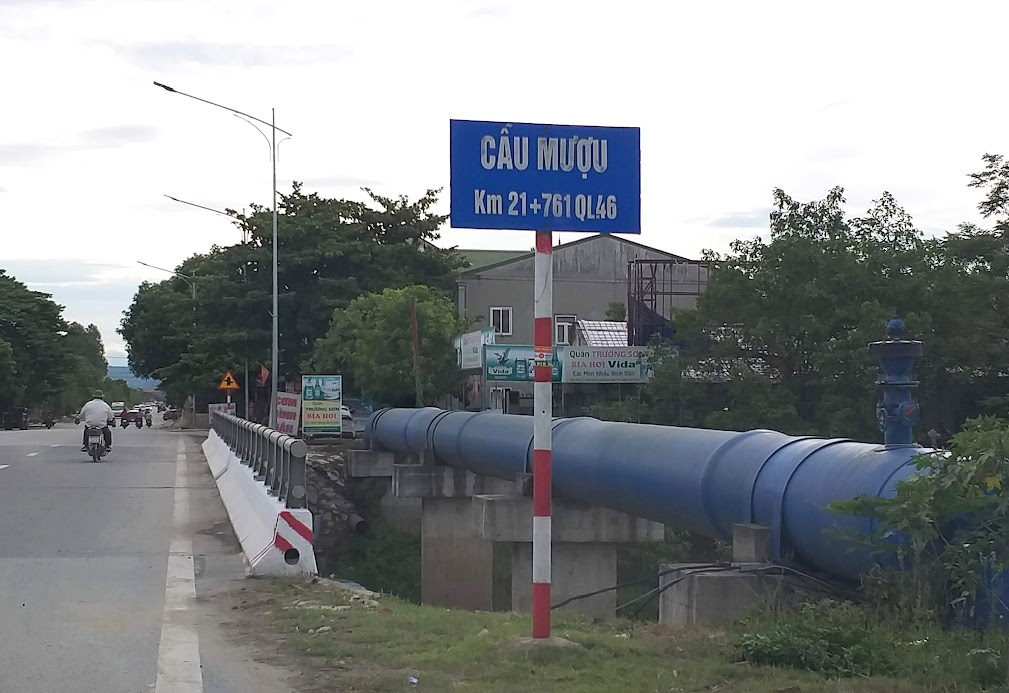 Đường ống cung cấp nguồn nước thô sông Lam cho Nhà máy nước Cầu Bạch và Nhà máy nước Hưng Vĩnh hoạt động từ năm 2016 đến nay